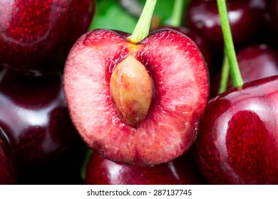 background with cherries