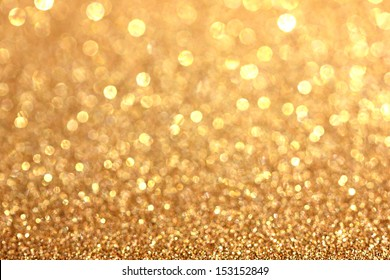 Background christmas bokeh gold
