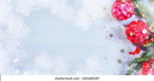 Background with christmas decaration