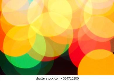 Background of Christmas lights garlands