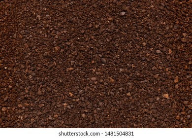 Background close up of ground coffee beans
