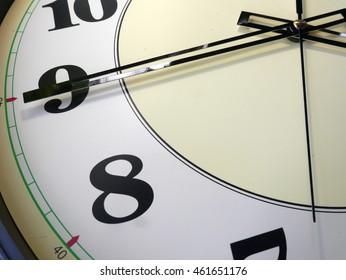 background, closeup the big clock