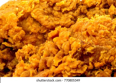Background closeup of fried chicken