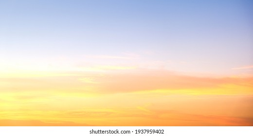 Background cloud summer. Orange Blue Background.