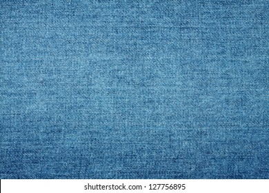Background of coarse thick sturdy denim blue