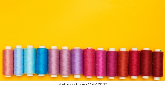 Background with coils of threads