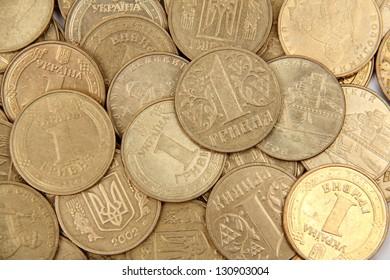 Background of the coins of Ukraine/Ukrainian metal money
