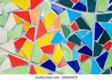 Background of color mosaic