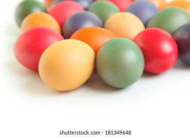 background with colored easter eggs