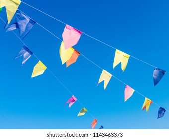 Background of colored flags for famous party in Brazil that happens in the months of June, July and August all over the country.