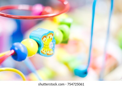 Background of colorful Baby toys, Baby's learning equipment for learning skill