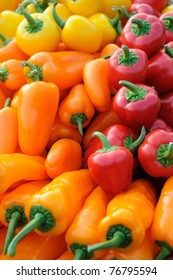 Background of colorful bell peppers