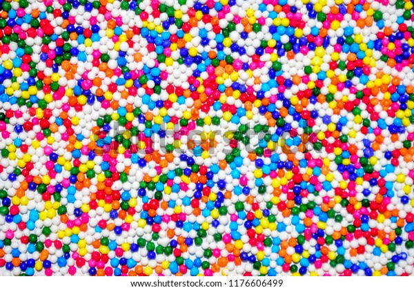 Background Colorful Candy Confetti Sprinkles Sugar Stock