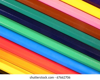 Background from colorful crayons