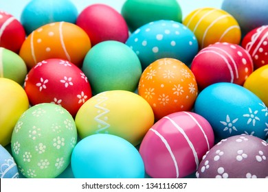 Background of colorful easter eggs