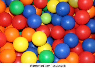 background of colorful plastic balls
