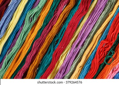 background colorful threads for embroidery