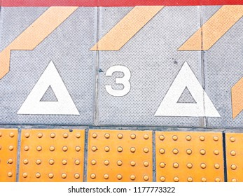 Background of commuter sign on the train station