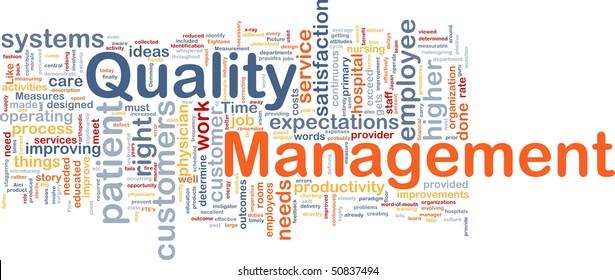 Background concept illustration of business quality management