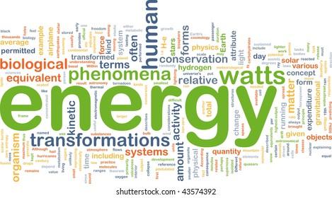 Background concept illustration of energy physics power