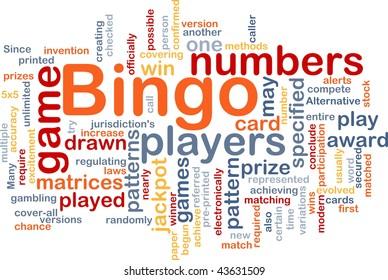 Background concept wordcloud illustration of bingo game pattern
