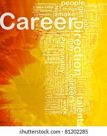Background concept wordcloud illustration of career international