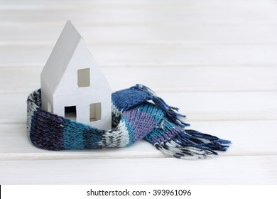 Background concepts with comfortable insulated house soft scarf