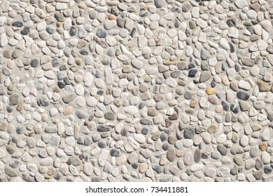 Background concrete with small pebbles, pebbles
