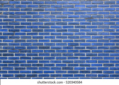 background consisting of horizontal part of blue wall build of blue bricks
