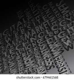 Background consisting of words