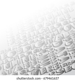 Background consisting of words, illustration clip-art