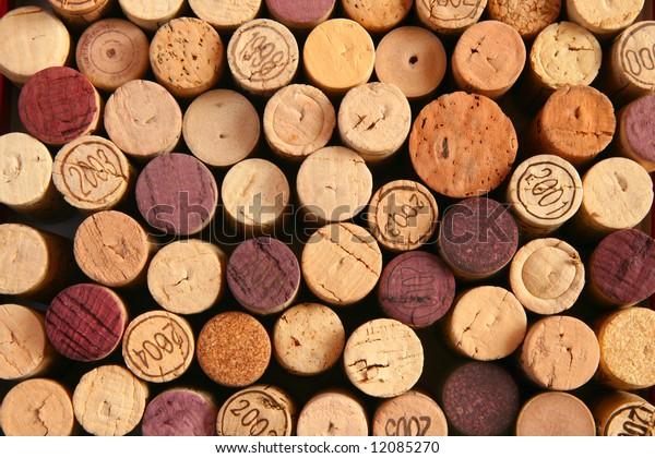 Background of corks' ends