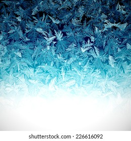 background covered with frost patterns