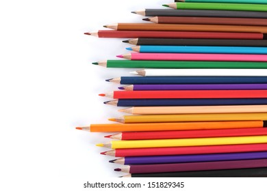 background of crayons