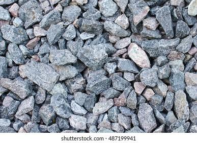 Background of crushed granite stone
