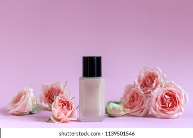 Background with decorative cosmetics
