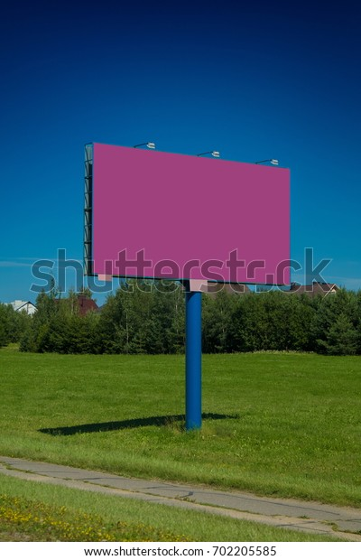 Background for design, billboards on city streets and along roads