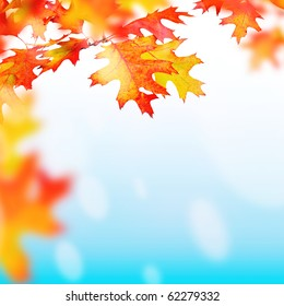 Background for design on a theme of autumn