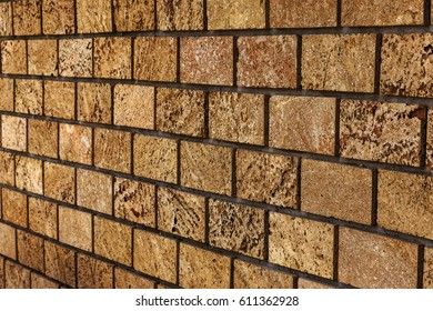 Background for design. Stone wall. Natural stone background of old stone for design of project as background background. Artistic wall from natural shellfish, stone from an underground quarry