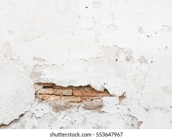 background Destroyed Concrete and crack Brick wall