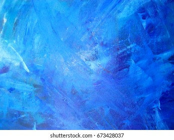 Background of detail of blue oil painting
