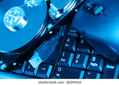 Background of Different computer devices and equipment