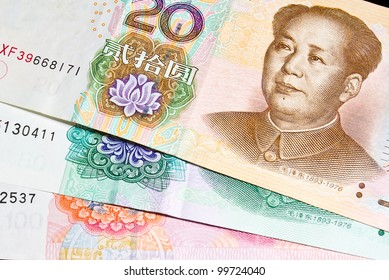Background of  different denominations of chinese money