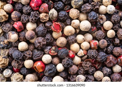 Background with different kind of pepper. Food photo
