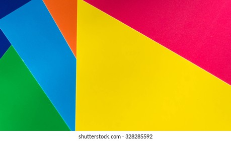 Background from different sheets of colored paper