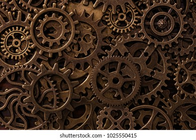 Background with different types of cogs
