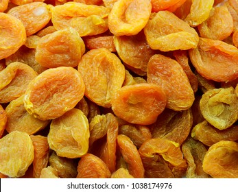 background of dried apricots