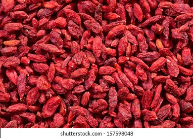 Background of dried goji berries