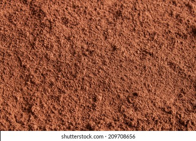 Background of a dry powder cocoa brown