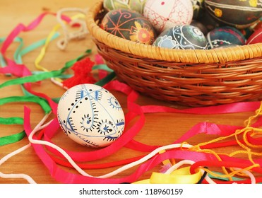 Background of Easter eggs